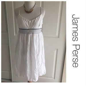 James Perse White Spaghetti Strap Dress L (3)